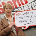 TUC President Lesley Mercer in Newcastle