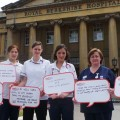 A group of physiotherapists from the Royal Berkshire Hospital share their concerns about austerity
